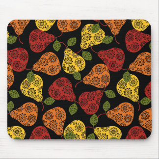 Beautiful Cute pears, yellow,  orange, maroon Mouse Pad