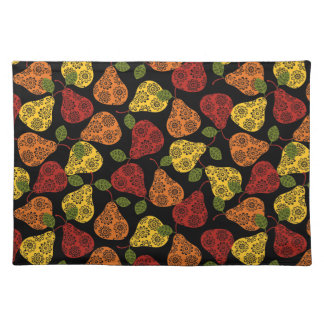 Beautiful Cute pears, yellow,  orange, maroon Placemat