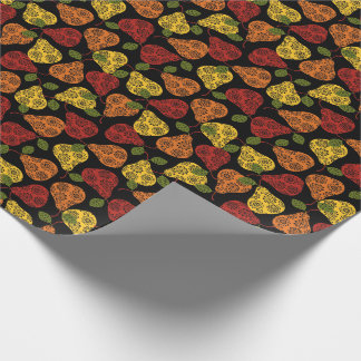 Beautiful Cute pears, yellow,  orange, maroon Wrapping Paper