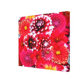 Beautiful Dahlia Collage Canvas Print