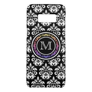 Beautiful damask monogram pattern Case-Mate samsung galaxy s8 case