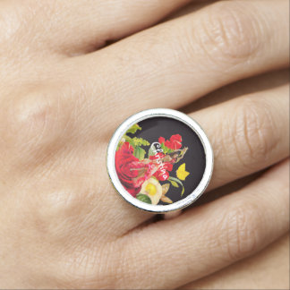 Beautiful Dancer Rose Garden Rings