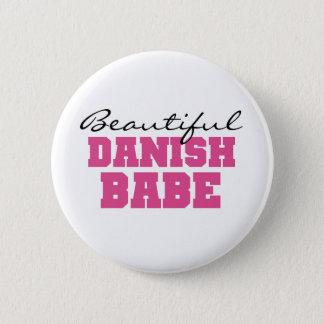 Beautiful Danish Babe 2 Inch Round Button