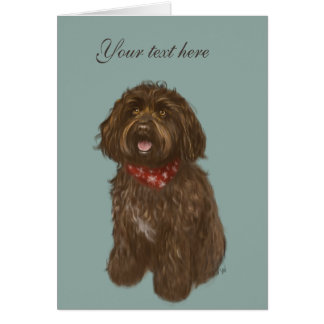Beautiful Darcey Labradoodle Love Card