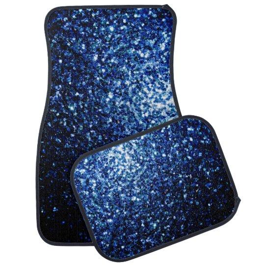 Beautiful Dark Blue glitter sparkles Car Liners
