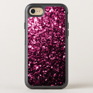 Beautiful Dark Pink glitter sparkles OtterBox Symmetry iPhone 8/7 Case