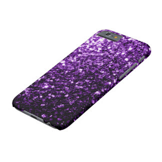 Beautiful Dark Purple glitter sparkles Barely There iPhone 6 Case