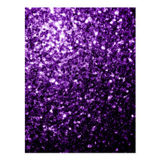 Beautiful Dark Purple glitter sparkles Postcard