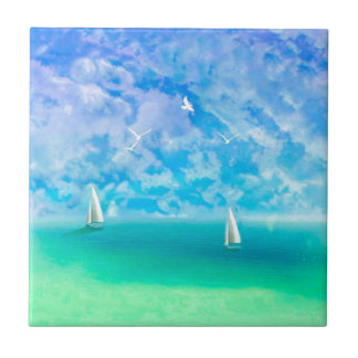 Beautiful Day For Sailing Tile