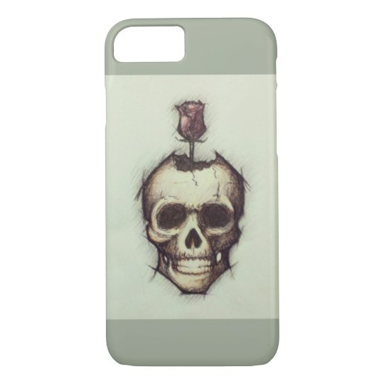 'Beautiful Decay' - Skull Rose T Shirt for Women iPhone 8/7 Case