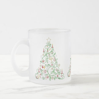 Beautiful Decorated Christmas Tree Frosted Mug
