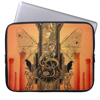 Beautiful decorative clef laptop sleeve