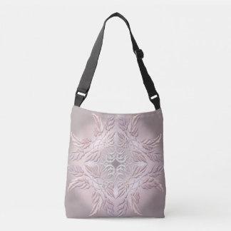 Beautiful  decorative element of leaves crossbody bag