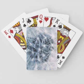 beautiful delicate dandelion flower photograph playing cards
