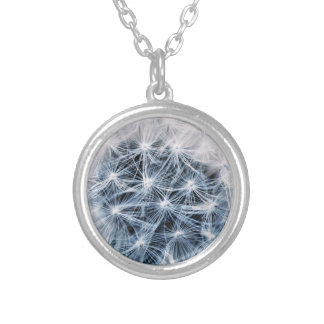 beautiful delicate dandelion flower photograph silver plated necklace