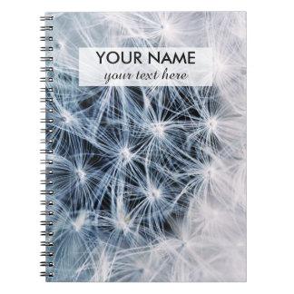 beautiful delicate dandelion flower photograph spiral notebooks