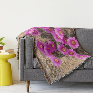 Beautiful Desert Flower. Throw Blanket
