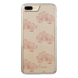 Beautiful design of peonies. carved iPhone 8 plus/7 plus case
