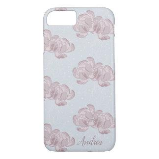 Beautiful design of peonies. iPhone 8/7 case