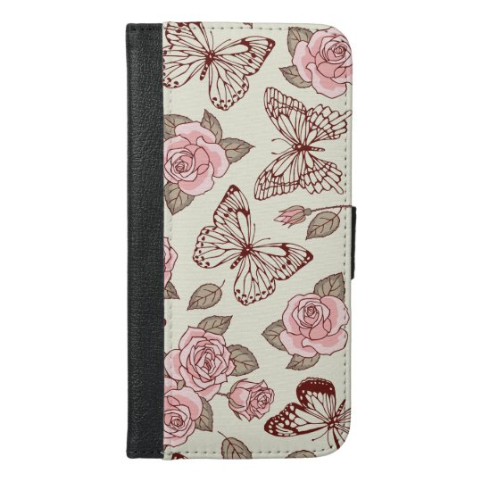 Beautiful Design with Roses and Butterflies