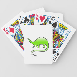 beautiful dinosaur bicycle playing cards