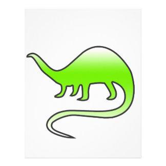 beautiful dinosaur letterhead