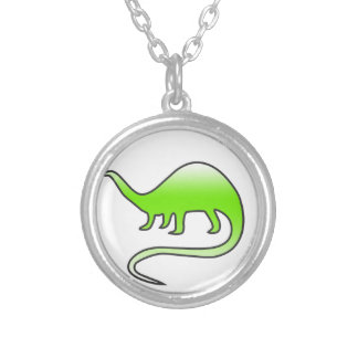 beautiful dinosaur silver plated necklace