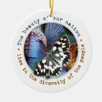 Beautiful Diversity Holiday Ornament