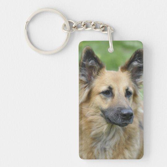Beautiful Dog Single-Sided Rectangular Acrylic Keychain