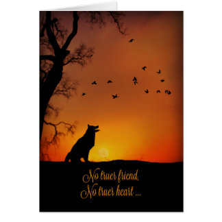 Beautiful Dog Sympathy Card
