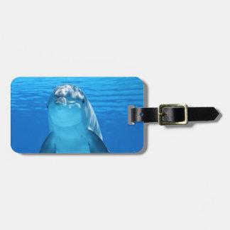 Beautiful dolphin luggage tag