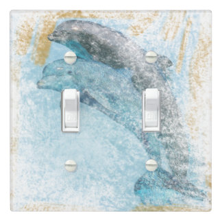 Beautiful Dolphins Jumping | Light Switch Cover