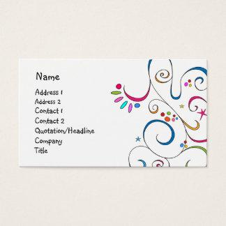 Beautiful doodle design business card