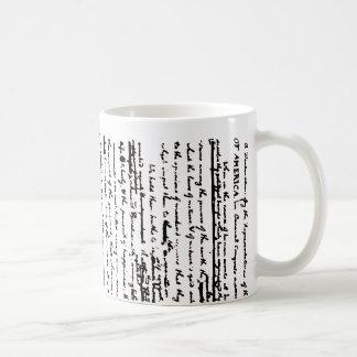 Beautiful draft script by Thos. Jefferson 1776 Coffee Mug