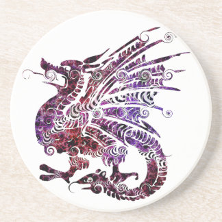Beautiful Dragon Sandstone Coaster