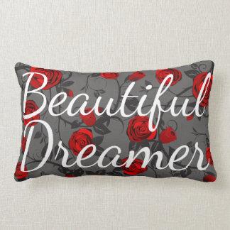 Beautiful Dreamer Red Roses & Vines Lumbar Pillow