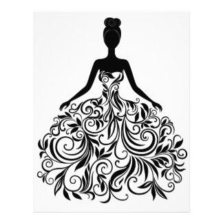 Beautiful Dress Girl Wedding Party Long Letterhead Design