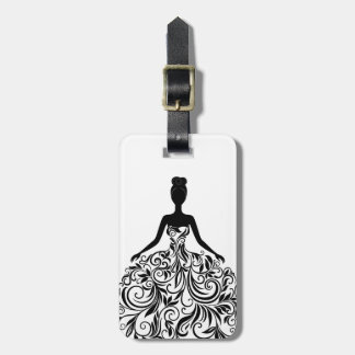Beautiful Dress Girl Wedding Party Long Luggage Tag