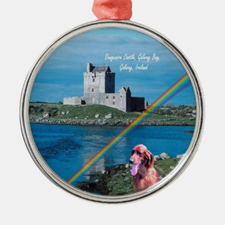 Beautiful Dunguaire Castle View Galway Bay Ireland Silver-Colored Round Ornament