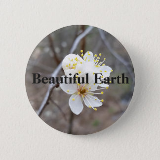 Beautiful Earth flower 2 Inch Round Button