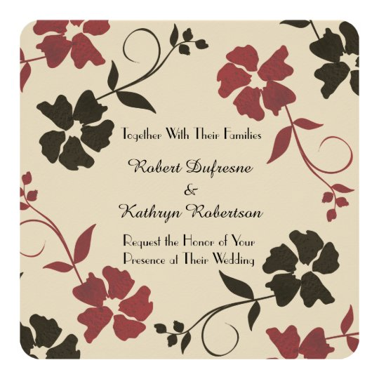 Beautiful & Earthy Floral Wedding Invitation