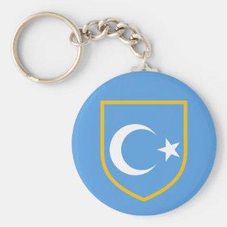 Beautiful East Turkestan Xinjiang Flag Keychain