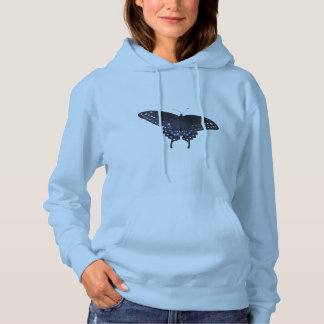 Beautiful Eastern Black Swallowtail Butterfly Hoodie