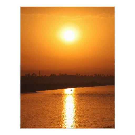 beautiful Egypt sunset Letterhead Design
