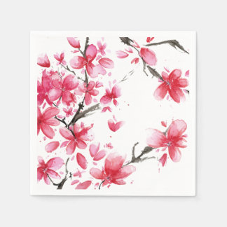 Beautiful & Elegant Cherry Blossom | Napkin Paper Napkins