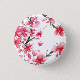Beautiful & Elegant Cherry Blossom Pin Button