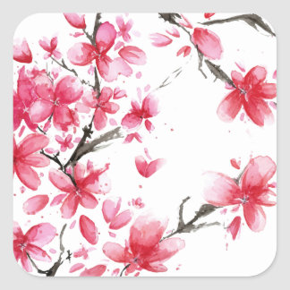Beautiful & Elegant Cherry Blossom Sticker Seal