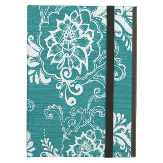 Beautiful, elegant, classic teal and white iPad air cases