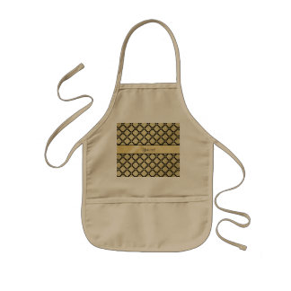 Beautiful Elegant Gold & Black Symetrical Kids Apron