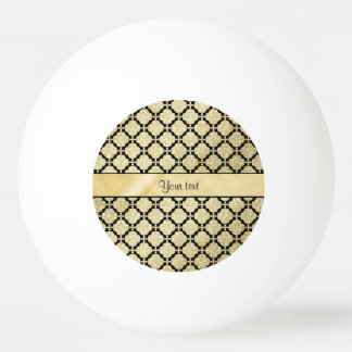Beautiful Elegant Gold & Black Symetrical Ping Pong Ball